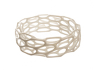 Porous Bracelet in White Strong & Flexible Polished