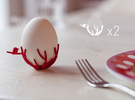 birdsnest eggcups duo in White Strong & Flexible