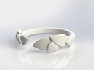 Delicate Leafs Size 5 (15.7mm) in White Strong & Flexible Polished