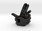 Make love, not finger guns Vase in Gloss Black Porcelain