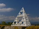 Sierpinski Tetrahedron Tree (thin branches) in White Strong & Flexible