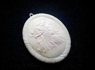 Lannister Lion Pendant in White Strong & Flexible Polished
