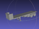 1/144 M871A2 Flat Bed Trailer in White Strong & Flexible Polished