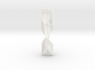 Square Twist Ornament Pendant in White Strong & Flexible Polished