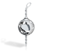 DRAW ornament - chain finial personalize in White Strong & Flexible