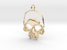 Skull Light Pendant in 14K Gold