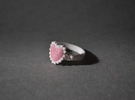 Crystal Heart Ring in White Strong & Flexible