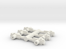 Graham Farish Chassis spacer class 87 & 90. in White Strong & Flexible