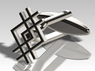 Cufflink - Squarestyle in Stainless Steel