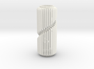 Spiral Column Lamp V1 in White Strong & Flexible Polished