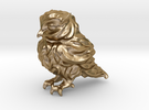 Owl Etta Gold Steel 6cm - Hollow 3mm in Polished Gold Steel
