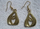 Lip Earrings in Raw Brass
