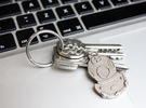 Diving Helmet Keychain in Stainless Steel