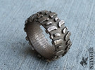 Mud Tire Size 9.5 Ring in Stainless Steel