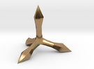 Caltrop 2 in Raw Brass