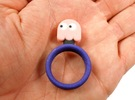 "Pac-Man ""Pinky"" Ghost Ring in Full Color Sandstone"