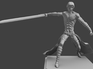 Barbarian figurine in Frosted Ultra Detail