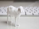 3D Scanned Nubian Goat  in White Strong & Flexible