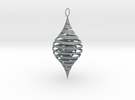 CounterSpiral Ornament in Polished Metallic Plastic