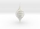 CounterSpiral Ornament in White Strong & Flexible