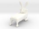 Rabbed2 in White Strong & Flexible Polished