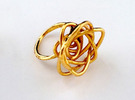 Sprouted Spiral Ring (Size 8) in 18K Gold Plated