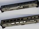 Via Rail Chassis for Dining & Coach Cars in White Strong & Flexible