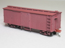 HOn3 25 foot Boxcar [without roof] in White Strong & Flexible