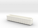 JUA 100 Tonne Tippler Wagon (Outer) N Gauge in White Strong & Flexible Polished