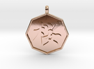 Sakura (Cherry Blossoms)   pendant in 14k Rose Gold Plated