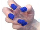 Cube Nails (Size 1)  in Blue Strong & Flexible Polished