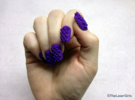 Cube Nails (Size 3) in Purple Strong & Flexible Polished