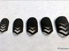 Chevron Nails (Size 0) in Black Strong & Flexible