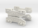 2 x N Gauge 1:148 Scale Bogeys for JUA Wagon in White Strong & Flexible