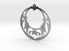 Victorian Open Hoop Earrings in Polished Silver