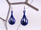 Ducks - Earrings in Red Strong & Flexible Polished