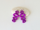 OVO Earrings - dangle earrings in Purple Strong & Flexible Polished