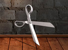 Scissors Pendant in White Strong & Flexible