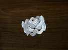 Turk's Head Knot Ring 4 Part X 9 Bight - Size 7 in White Strong & Flexible