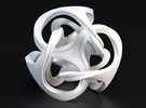 Ora Sculpture 10cm in White Strong & Flexible Polished