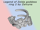 Zelda goddess swirl ring size 4 in Polished Metallic Plastic