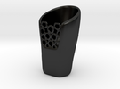 Vase Design 1 in Matte Black Porcelain