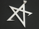 Broken Pentagram Pendant in Polished Silver