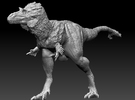 1:40 scale Gorgosaurus in White Strong & Flexible