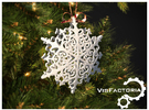 Royal Christmas Snowflake in White Strong & Flexible