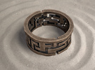 Labyrinth ring: size 8 (US) Q (UK) in Polished Bronze Steel