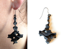 Earrings Pendule in Black Strong & Flexible
