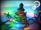 Color Swirling Christmas Tree in Full Color Sandstone