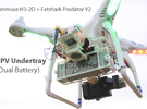 DJI Phantom Zenmuse FPV Undertray (Dual Battery) in White Strong & Flexible