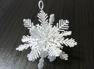 Snowflake for Decoration in White Strong & Flexible